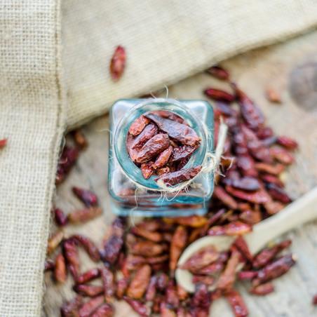 Piment Oiseau Rouge - Pili-Pili - David Vanille - Vente d'épices rares