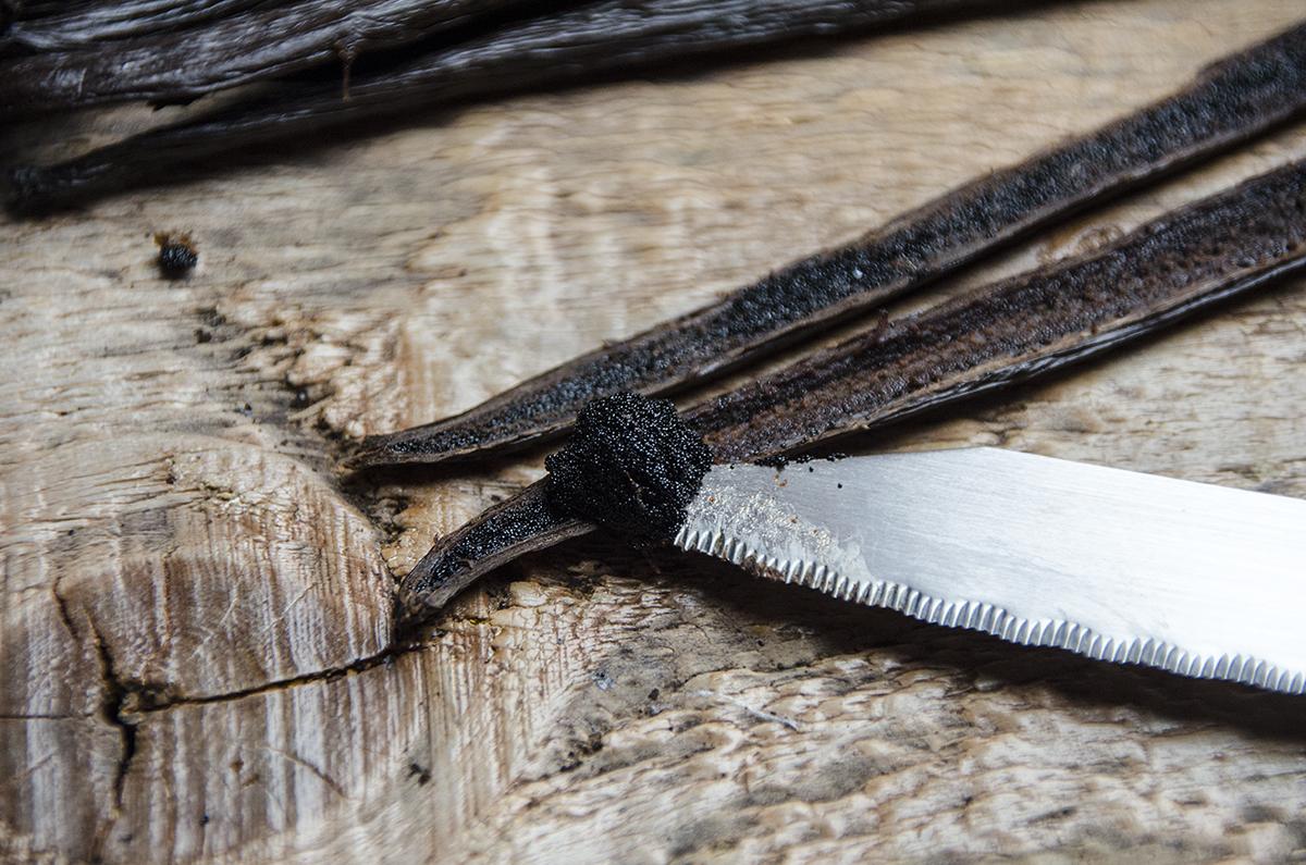 Utilisation d'une gousse de vanille
