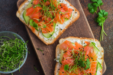 Norwegian Salmon Toast