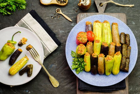 Egyptian-style stuffed vegetables - Dolma bel khodra