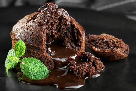 Spicy chocolate fondant - Flowy heart